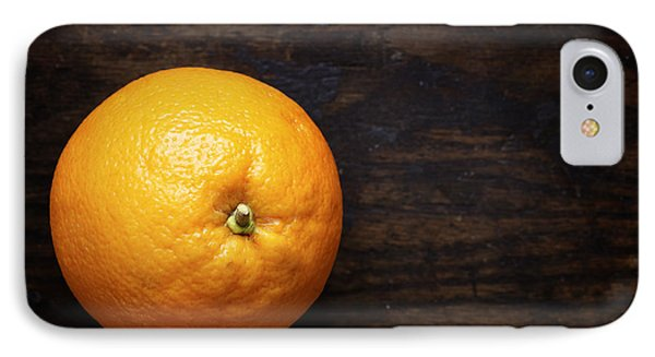Naval Oranges On Wood Background IPhone Case by Donald Erickson
