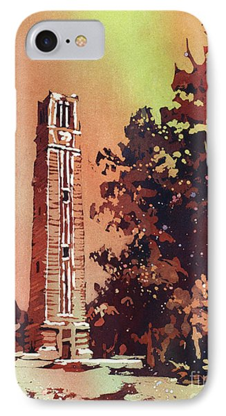 Ncsu Bell-tower IPhone Case by Ryan Fox