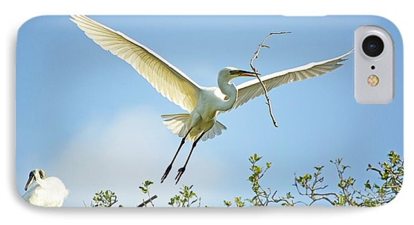 Nest Building IPhone Case by Kenneth Albin