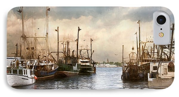 IPhone Case featuring the photograph New Bedford Harbor by Robin-Lee Vieira