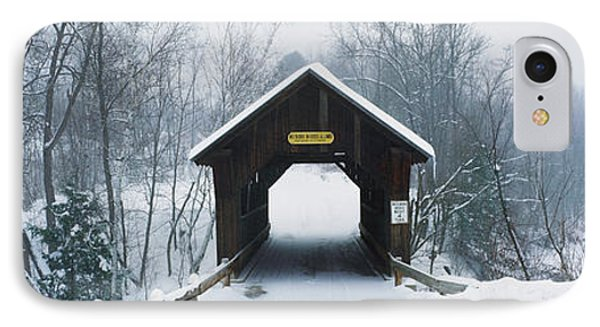 New England Covered Bridge In Winter IPhone Case