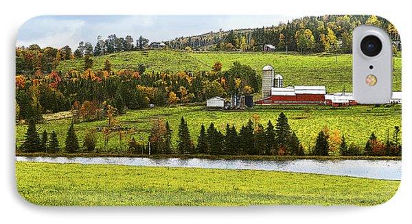 New England Farm IPhone Case by Betty LaRue