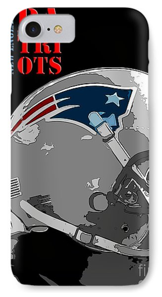 New England Patriots Original Typography Football Team IPhone Case by Pablo Franchi