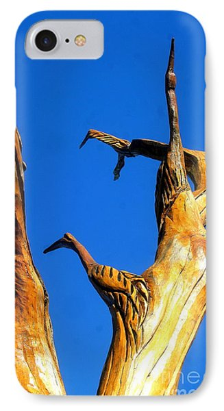 New Orleans Bird Tree Sculpture In Louisiana IPhone Case by Michael Hoard