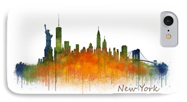 New York City Skyline Hq V02 IPhone Case by HQ Photo