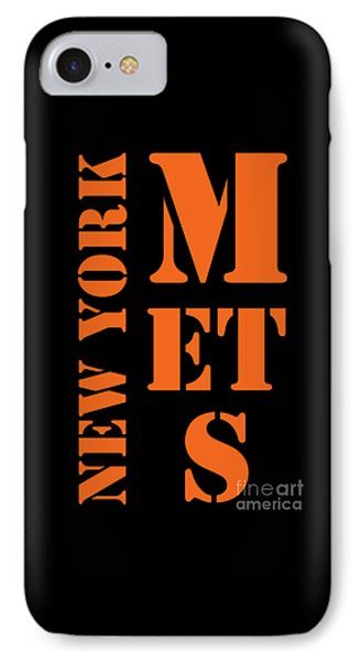 New York Mets Typography IPhone Case by Pablo Franchi