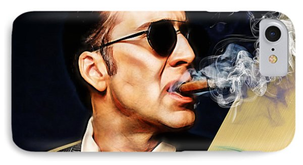Nicolas Cage Collection IPhone Case by Marvin Blaine