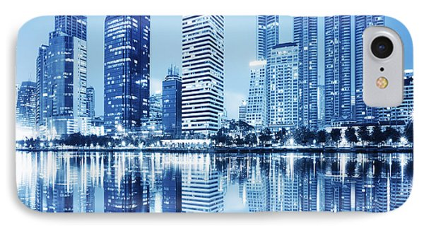 Night Scenes Of City IPhone 7 Case by Setsiri Silapasuwanchai