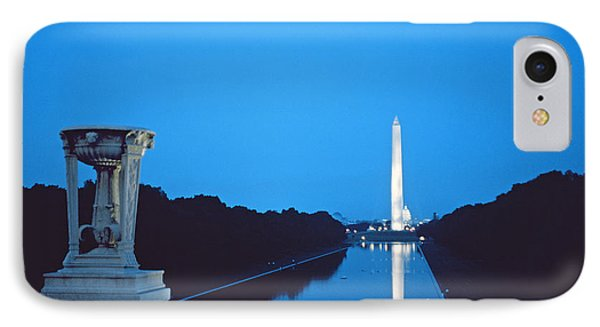Night View Of The Washington Monument Across The National Mall Phone Case by American School