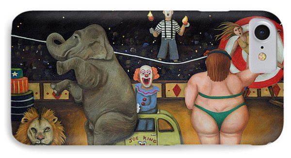Nightmare Circus IPhone Case by Leah Saulnier The Painting Maniac
