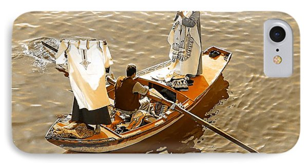 IPhone Case featuring the photograph Nile River Merchants by Joseph Hendrix
