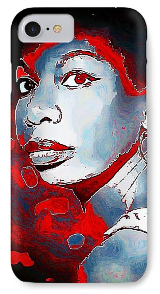 Nina Simone IPhone Case by Lynda Payton