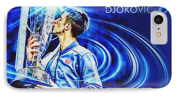 No1e  -  Novak Djokovic IPhone Case by Nenad Cerovic
