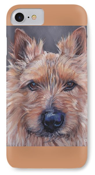 IPhone Case featuring the painting Norwich Terrier by Lee Ann Shepard