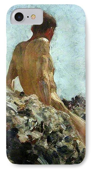 IPhone Case featuring the painting Nude Study by Henry Scott Tuke