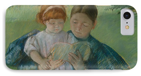 Nurse Reading To A Little Girl IPhone Case