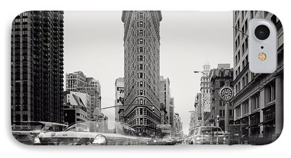 Nyc Flat Iron IPhone Case by Nina Papiorek