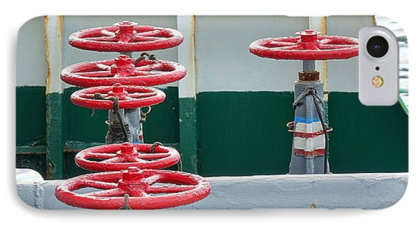IPhone Case featuring the photograph Oil Pipeline Control Valves by Yali Shi