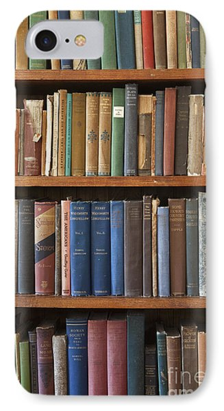 Old Books On A Bookshelf Phone Case by Paul Edmondson