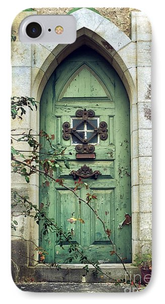 Old Gothic Door IPhone Case by Carlos Caetano