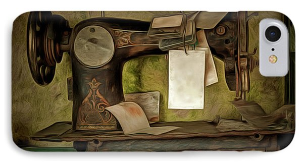 Old Sewing Machine IPhone Case by Michal Boubin