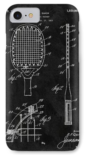 Old Tennis Racket Patent IPhone Case