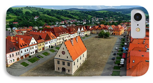 Old Town Square In Bardejov, Slovakia IPhone Case