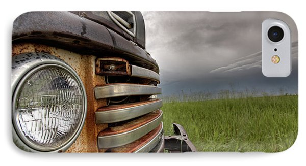 Old Vintage Truck On The Prairie Phone Case by Mark Duffy