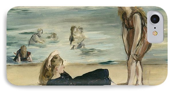 On The Beach IPhone Case by Edouard Manet