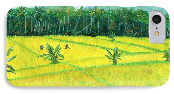 IPhone Case featuring the painting On The Way To Ubud II Bali Indonesia by Melly Terpening