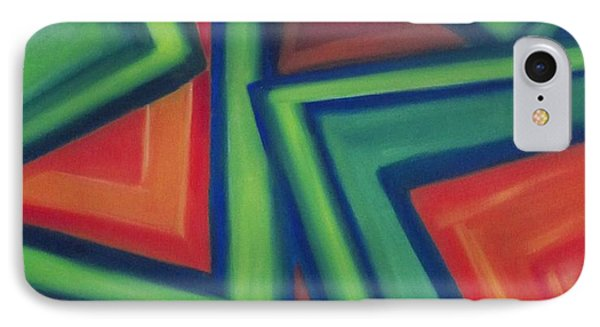 IPhone Case featuring the painting Orange And Green by Patricia Cleasby