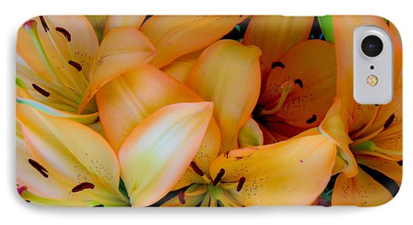 Orange Lilies IPhone Case by Mark Barclay