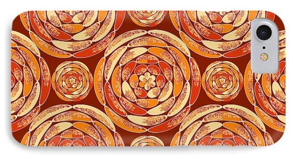 Orange Pattern IPhone Case