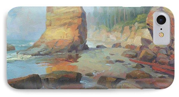 Otter iPhone 7 Case - Otter Rock Beach by Steve Henderson