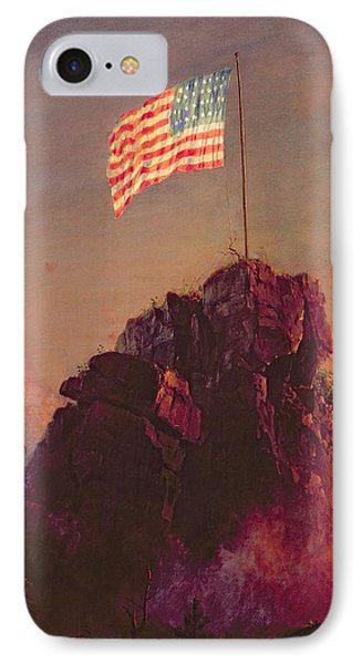 Our Flag IPhone Case by Frederic Edwin Church