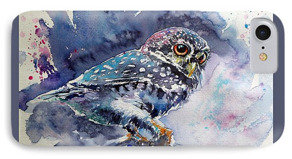Owl At Night IPhone Case by Kovacs Anna Brigitta