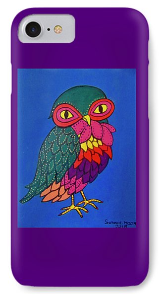 Owl IPhone Case by Stephanie Moore