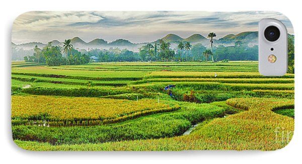 Paddy Rice Panorama Phone Case by MotHaiBaPhoto Prints
