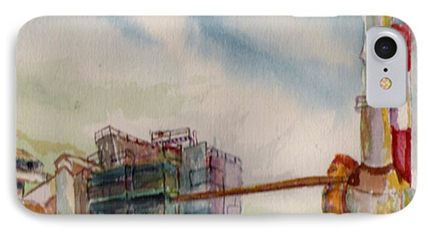 IPhone Case featuring the painting Paia Mill 2 by Eric Samuelson