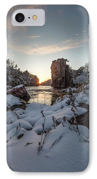 IPhone Case featuring the photograph  Palisades First Snow by Aaron J Groen