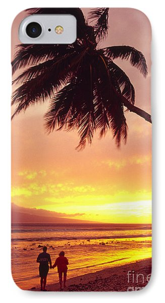 Palm Over The Beach Phone Case by Ron Dahlquist - Printscapes