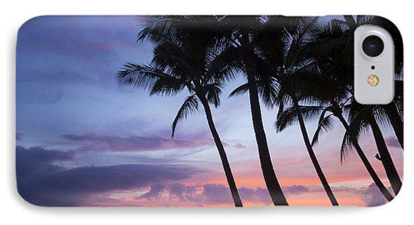Palm Trees At Sunset, Keawekapu Beach IPhone Case by Ron Dahlquist