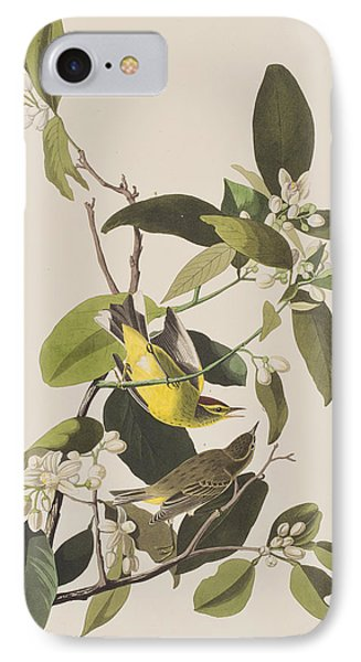 Palm Warbler IPhone 7 Case by John James Audubon