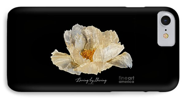 IPhone Case featuring the photograph Paper Peony by Diane E Berry