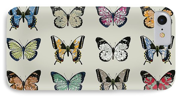 Butterfly iPhone 7 Case - Papillon by Sarah Hough