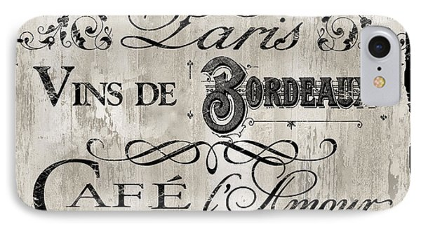 Paris Bistro    IPhone Case by Mindy Sommers