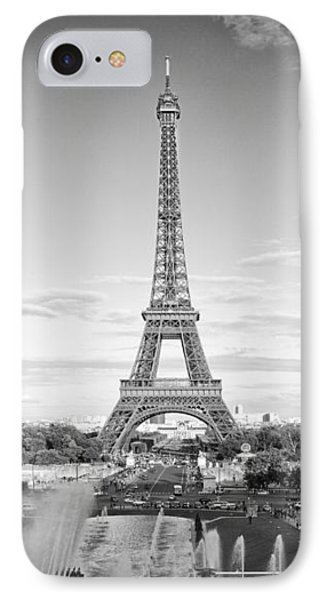Paris Eiffel Tower Monochrome IPhone Case by Melanie Viola