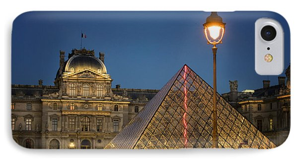 Louvre Museum At Twilight IPhone Case