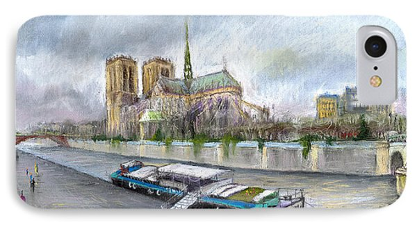 Paris Notre-dame De Paris Phone Case by Yuriy  Shevchuk