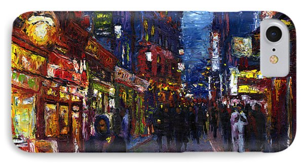 Paris Quartier Latin 01 IPhone Case by Yuriy  Shevchuk